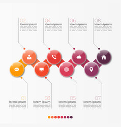8 option infographic template with circles vector image