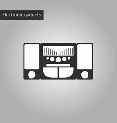 black and white style icon music center vector image