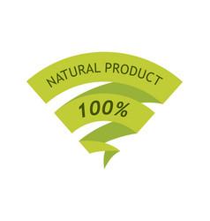 natural product 100 percent vector image