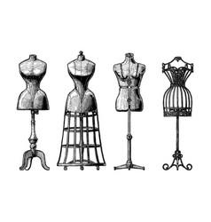 Set of dress form vector