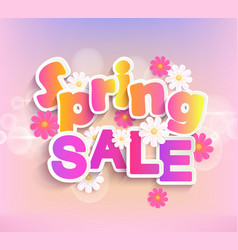 Spring sale label 50 percent discount vector