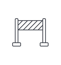 Fence construction thin line icon linear vector