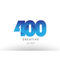 400 blue gradient number numeral digit logo icon vector