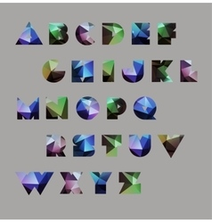 Abstract polygonal letter in cosmic style vector