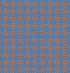 Diagonal squareorange and blue seamless fabric vector