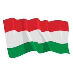 political waving flag of hungary vector image
