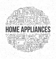 Home Electronics vector image