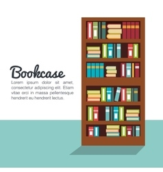 Bookcase isolated design vector