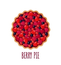 Berry pie icon on white background vector