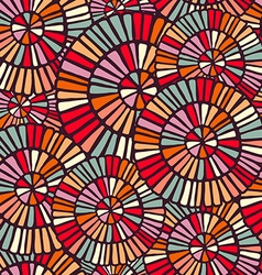 Background pattern with colorful circle mosaic art vector image vector image
