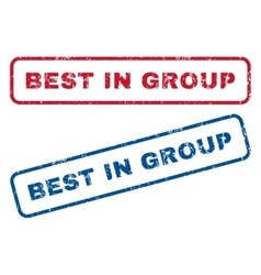 Best in group rubber stamps vector