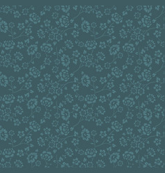 Blue flower seamless pattern background vector