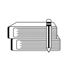 Book with pencil icon image vector