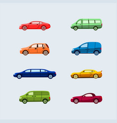 car classification - modern flat design vector image