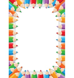 color pencils frame vector image vector image