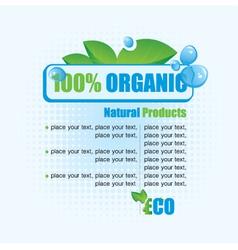 Ecological banner vector image