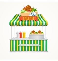 Falafel street market vector
