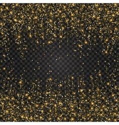 Festive explosion of confetti Gold glitter vector image vector image