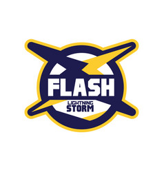 Flash lightning storm logo template company vector