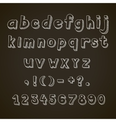Hand drawn font retro alphabet letters vector image