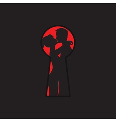 Keyhole and lovers vector
