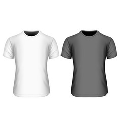 Mens short sleeve t-shirt vector