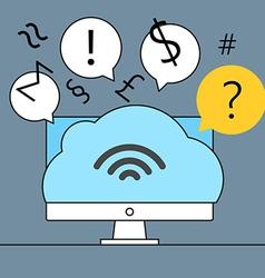 Modern cloud technology vector