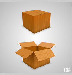 paper box open and closed vector image