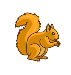 Red Squirrel cartoon drawing vector image vector image