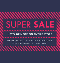 Sale and offer banner voucher design template vector
