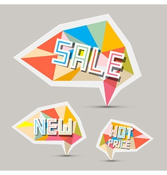 Sale Paper Retro Labels Set vector image vector image