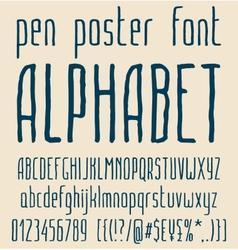 Sans-serif hand-drawn elegant pen poster minimal vector image vector image