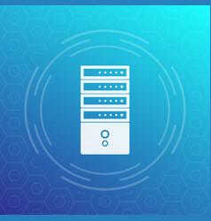 server rack icon vector image vector image