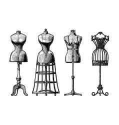 Set of dress form vector