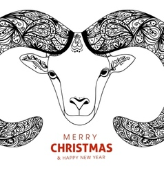 Symbol goat sheep for Chinese New Year with vector image vector image