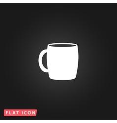 Tea cup flat icon vector image vector image