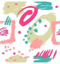Seamless pattern brush strokes vector