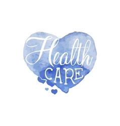Health care beauty promo sign vector