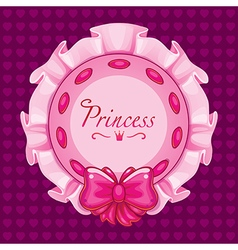 Pink princess pillow vector image