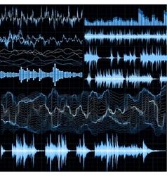 Sound waves set Music background EPS 10 vector image