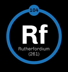 Rutherfordium chemical element vector