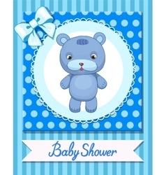 Funny Toy Bear design Animal Children store vector image