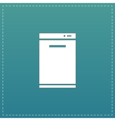Kitchen - Dishwasher icon sign and button vector image