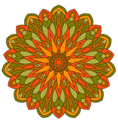 Colored ethnic ancient ornament mandala isolated vector