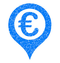Euro geotargeting icon grunge watermark vector