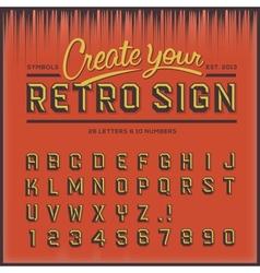 Retro type font vintage typography vector