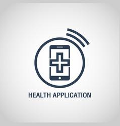 Health application logo icon design vector