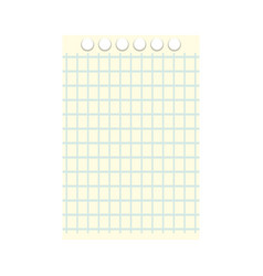 note book sheet vector image