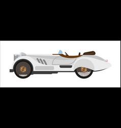 Retro sport car old vintage racing sportcar vector