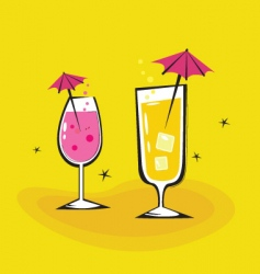 Summer cocktails background vector